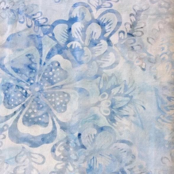 Anthology Batiks - Pale Blue Flowers