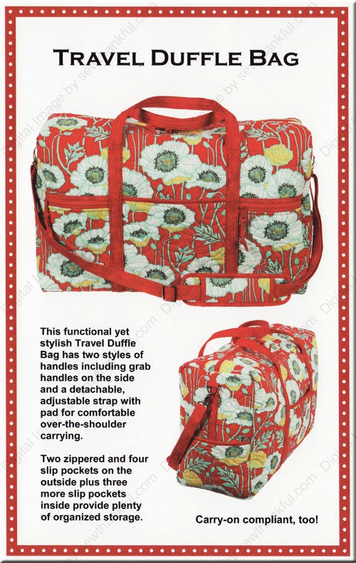 Get Out of Town Dufffle Bag Pattern