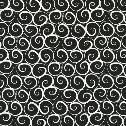 Boutique Brights - Swirls - Black + White