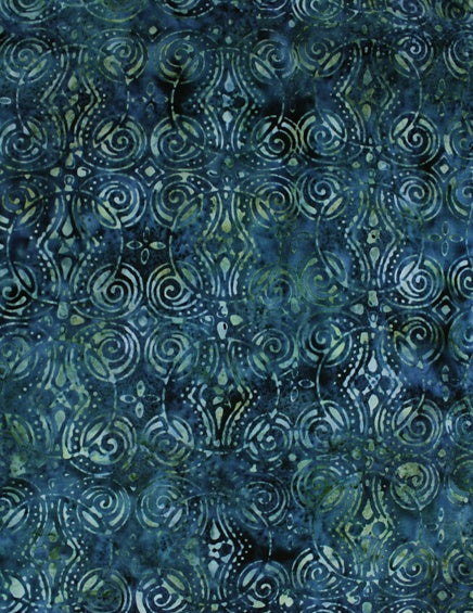 Anthology Batik - Sea Green Swirls