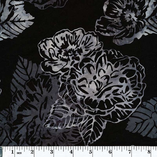 Bali Batiks - Black Light Floral