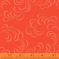Modern Cloud Orange 108 inch wide