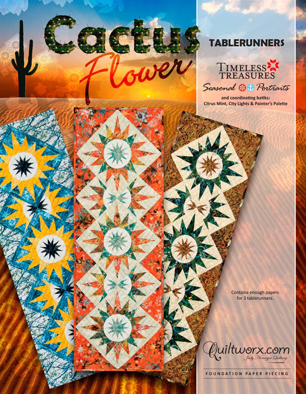 Cactus Flower Table Runner Pattern