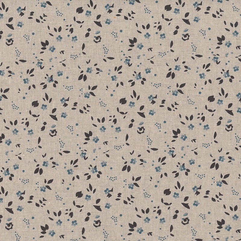 Stof - Shabby Chic - Blue Floral