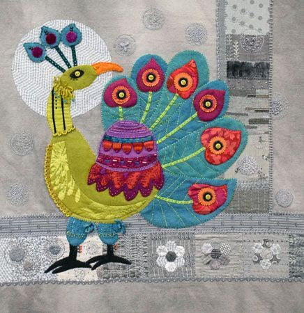 Sue Spargo - Peacock Block Pattern