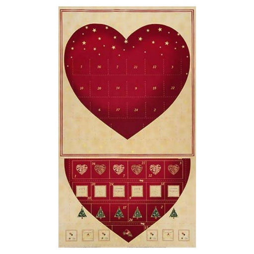 Christmas Heart Advent Panel
