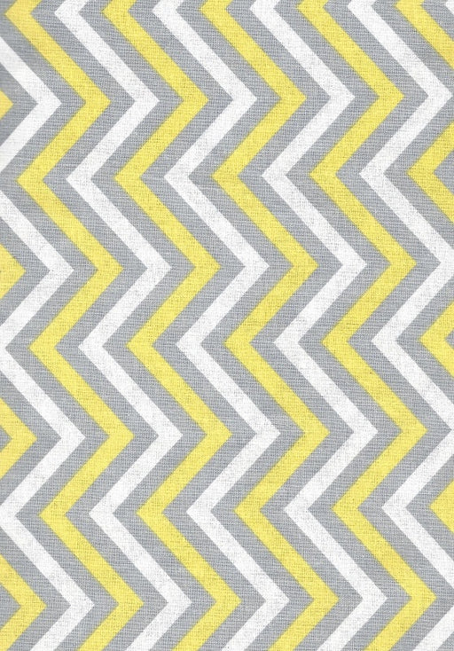 Yellow & Grey Chevron