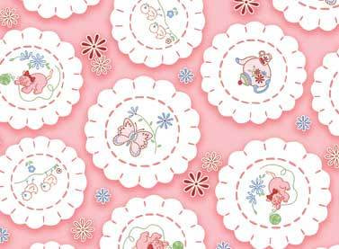 Fancywork Box - Vintage Doilies in Pink
