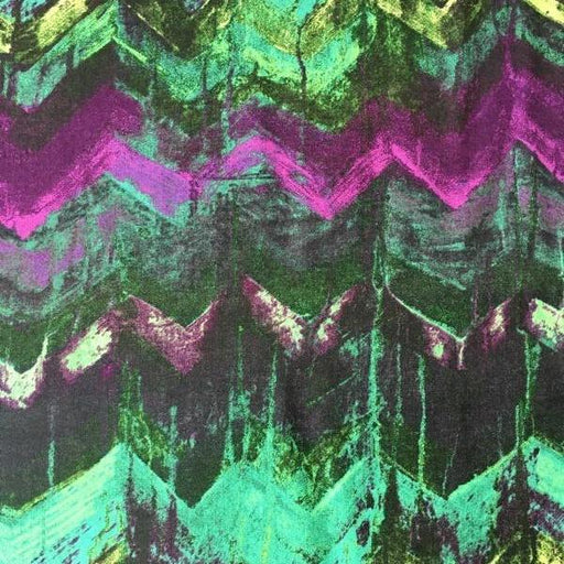 Daydreams III - Chevrons - Green + Purple