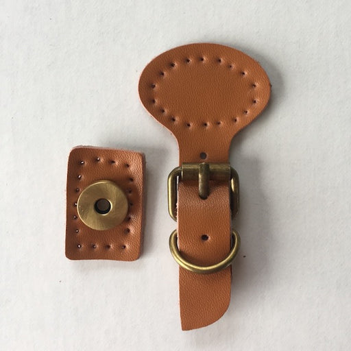 Leather Buckle  - Magnetic Snap Closure