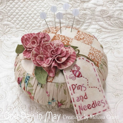 Roses and Ruching Pincushion Kit