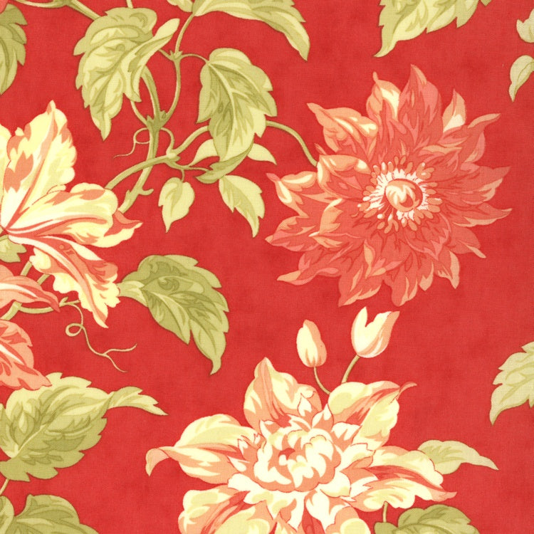 Tapestry - Passionfruit Vine - Coral Red