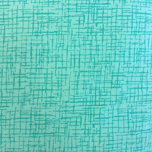 "Crosshatch - Aqua - 108"" wide"