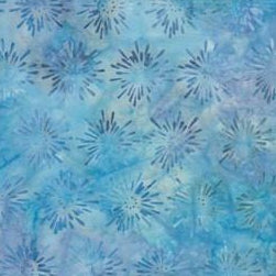 BeColourful Batik - Blue Starburst