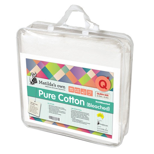 Pure Cotton (Bleached) Queen Size Wadding