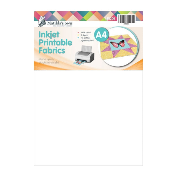 graphic about Printable Fabric Sheets for Quilting known as Matildas Particular A4 Inkjet Printable Materials