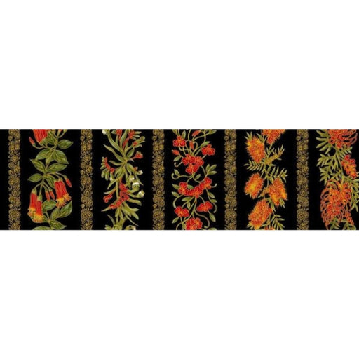 Chandler's Cottage - Floral Stripe Red/Black
