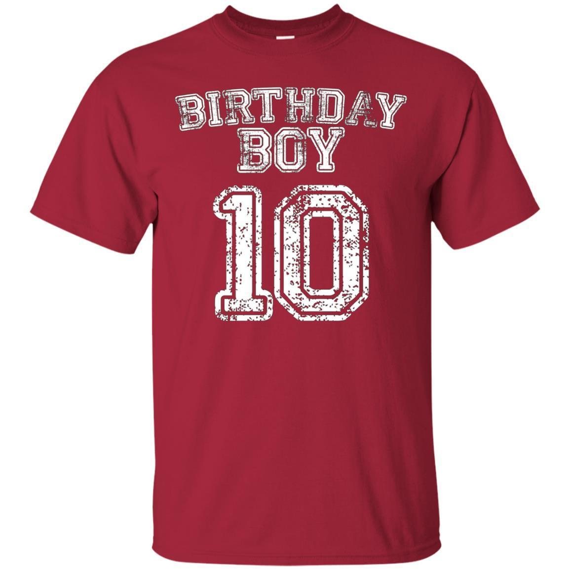 Buy 10th Birthday Sports Jersey T Shirt 10 Year Old Boy Tee