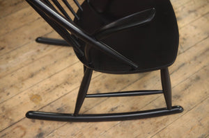 Black Rocking Chair by Illum Wikkelso