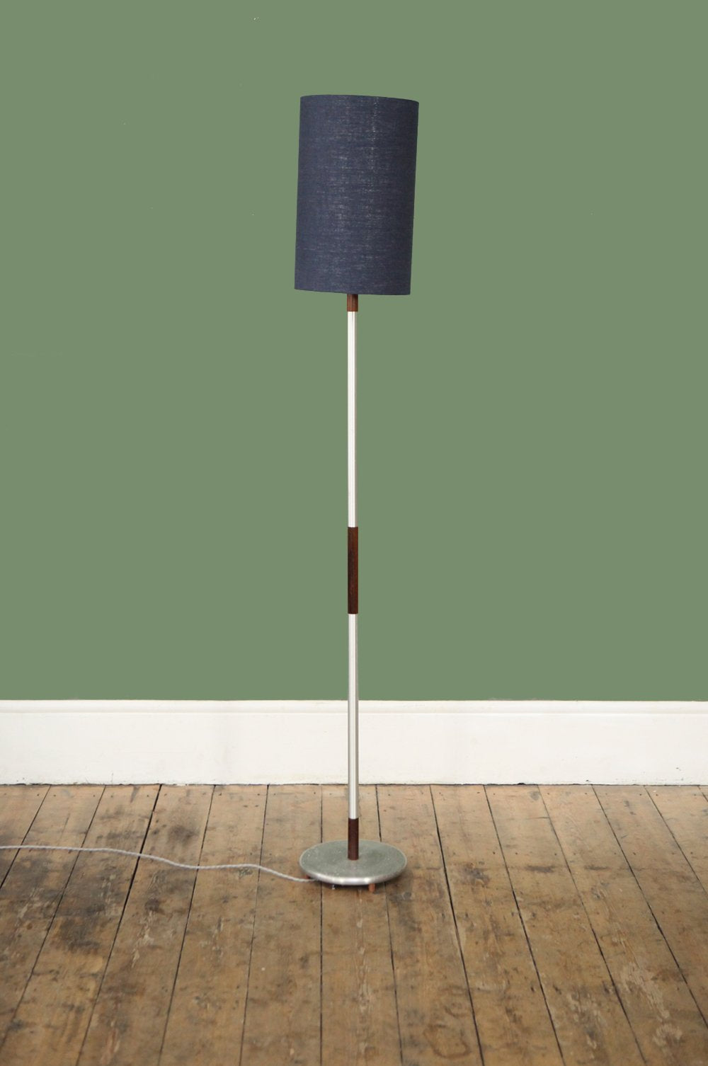 Rosewood and Chrome Floor Lamp