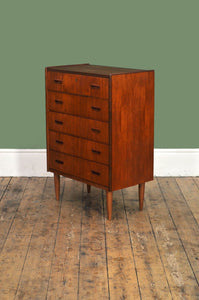 ON HOLD Slim Teak Chest of Drawers