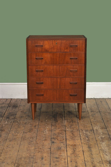 Slim Teak Chest of Drawers