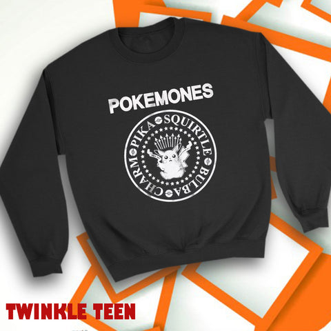 a79b961e Pikachu Pokemon As Ramones Logo Men'S Sweatshirt
