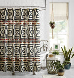 Justina Blakeney Hypnotic Shower Curtain: Black - Annabel Bleu