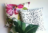 Carly: Les Touches Style Modern Dotted Pillow Cover - Annabel Bleu