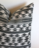 Black Throw pillow cover / Geometric pillow / Bohemian Cushion / Painted Pillow / Quilt Pillow cover & Other Sizes - Annabel Bleu