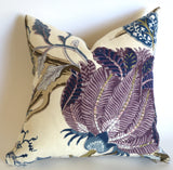 Schumacher INDIAN ARBRE Pillow Cover / Hyacinth - Annabel Bleu