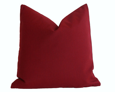 Red Sunbrella Outdoor Pillow cover / Sunbrella Solids - Annabel Bleu
