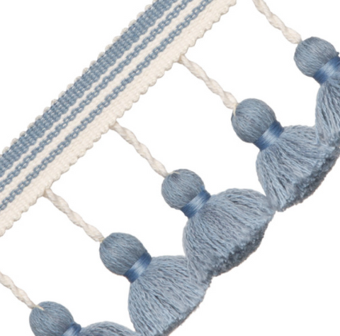 Italian Tassel Fringe: Available in 12 Colors - Annabel Bleu