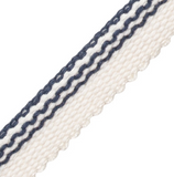 Italian Striped Cotton Piping: Available in 12 Colors - Annabel Bleu