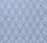 Peaks & Valleys: Embroidered Schumacher Upholstery fabric by the yard - Annabel Bleu