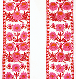 Abigayl: Pink Swedish Embroidered Schumacher Fabric by the yard - Annabel Bleu