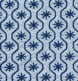 Gigi: Light & Dark Blue Embroidered Schumacher fabric by the yard - Annabel Bleu