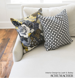 Schumacher Fabric by the yard: BETWIXT, Black & White - Annabel Bleu