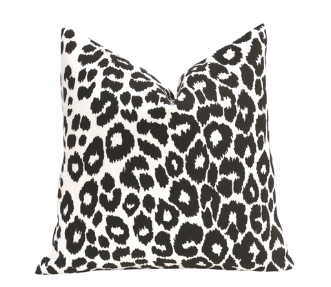 Kate: An Art Deco Schumacher Iconic Leopard Pillow Cover - Annabel Bleu