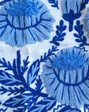 Abigayl: Swedish Embroidered Schumacher Fabric by the yard - Annabel Bleu