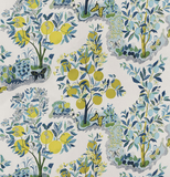 Citrus Garden, Pool: Schumacher Fabric by the yard - Annabel Bleu