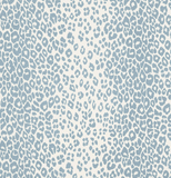 Schumacher Fabric by the yard: Iconic Leopard, Skye - Annabel Bleu