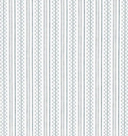 Schumacher Fabric by the yard: Jack Stripe, Sky Blue - Annabel Bleu