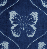 Papillon, Sapphire: Schumacher Butterfly Fabric by the yard - Annabel Bleu