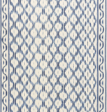 SANTA MONICA IKAT, Indigo: Schumacher Fabric by the yard - Annabel Bleu
