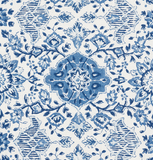 Montecito Floral: Indigo Schumacher Upholstery fabric by the yard - Annabel Bleu