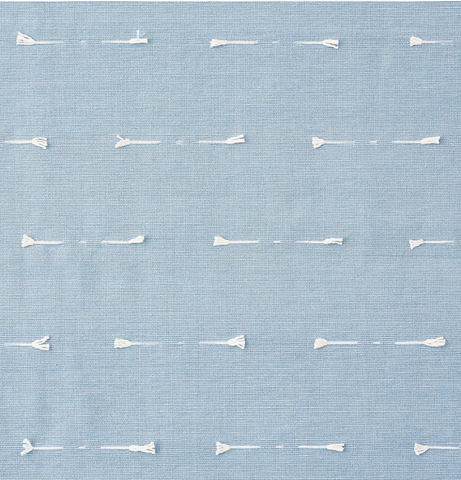Teton: Tufted Woven Schumacher Upholstery fabric by the yard - Annabel Bleu
