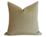 White and Black Slub Sunbrella Outdoor Pillow cover / Sunbrella Solids - Annabel Bleu