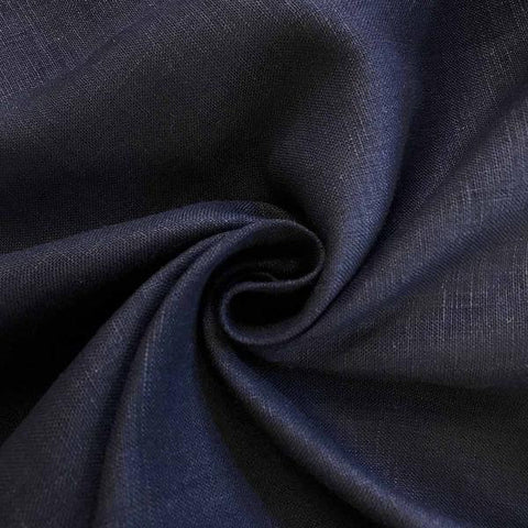 Navy Linen fabric by the Yard / Belgian linen upholstery fabric / Linen Home Decor Fabric / Dark Blue Home decor fabric - Annabel Bleu