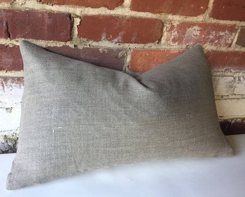 Warm Grey Pillow Cover in Belgian Linen Zipper pillow cover Natural Undyed Flax Linen Pillow Cover - Annabel Bleu